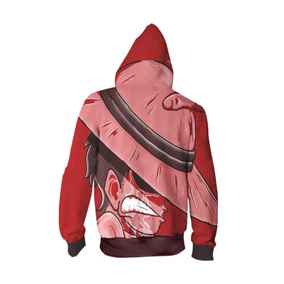 Monkey D. Luffy Red Hoodie - One Piece Zip Up Hoodie
