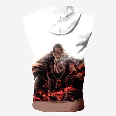 Sir Crocodile Red Hooded Tank Top - One Piece 3D Printed Sleeveless Hoodie