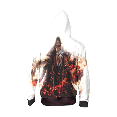 One Piece Hoodie - Chrocodile in suit spilling drink out of a bottle - Zip Up Hoodie & T-Shirt