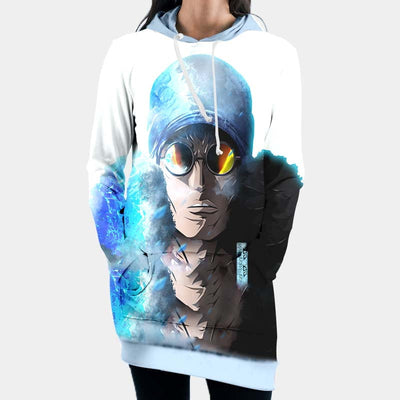 One Piece Hooded Dress - -Kuzan standing in a ice 3D Printed Hoodie Dress