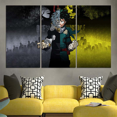 One-Justice-Kv Canvas - My Hero Academia 3D Printed Canvas