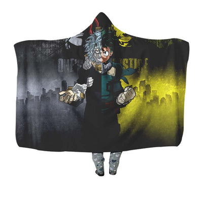 One-Justice-Kv Hooded Blanket - My Hero Academia 3D Printed Hooded Blanket