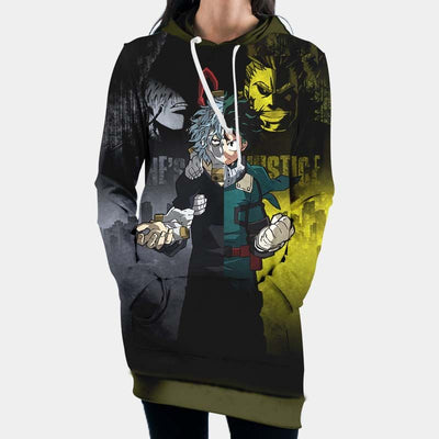 One-Justice-Kv Hooded Dress - My Hero Academia 3D Printed Hoodie Dress