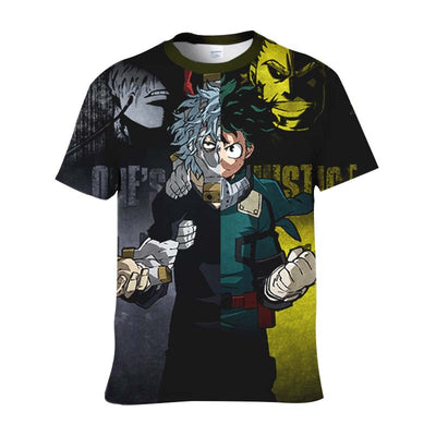One-Justice-Kv T-Shirt - My Hero Academia 3D Printed T-Shirt
