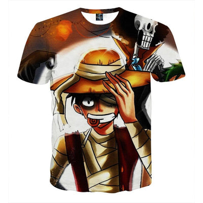 One Piece Anime Injured Monkey D Luffy Cool Stylish T-shirt