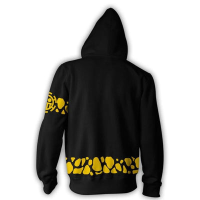One Piece Hoodies - Trafalgar Law Coat Cosplay Zip Hoodie