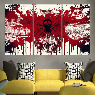 Phantom Troupe Blood  Canvas - Hunter x Hunter 3D Printed Canvas