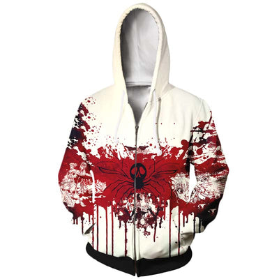 Phantom Troupe Blood Hoodie - Hunter x Hunter 3D Printed Zip Up Hoodie