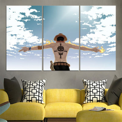 Portgas D. Ace - One Piece 3D Printed Canvas