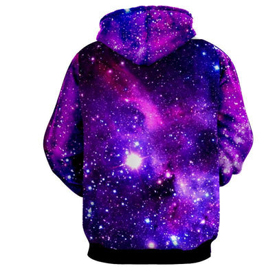 Purple GOKU SSJ God Dragon Ball 3D Hoodie