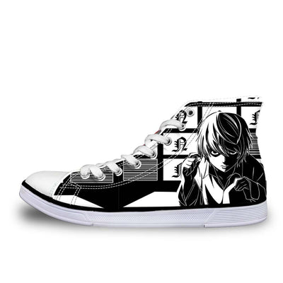Near Holding A Dice Infront Of Screens Shoes - Death Note 3D Printed Shoes
