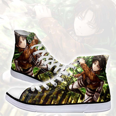Levi Soaring Through The Forest - 3d Printed Attack On Titan Shoes