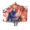 Shoto Todoroki Fire Hooded Blanket - My Hero Academia 3D Printed Hooded Blanket