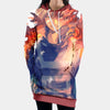 Shoto Todoroki Fire Hooded Dress - My Hero Academia 3D Printed Hoodie Dress
