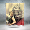 Edward & Alphonse Curtain - 3D Printed Full Metal Alchemist Shower Curtain