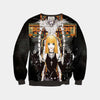 Misa & Ren Standing Infront Of A Cross Sweatshirt - Death Note 3D Printed Sweatshirt