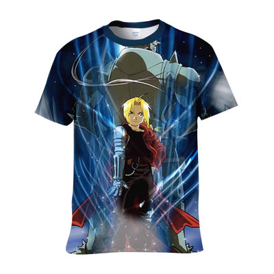 Edward & Alphonse T-Shirt - Full Metal Alchemist 3D Printed T-Shirt