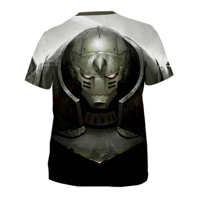 Alphonse Elric Angry T-Shirt - Full Metal Alchemist 3D Printed T-Shirt