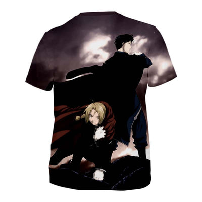 Edward and Roy Mustang T-Shirt - Full Metal Alchemist 3D Printed T-Shirt