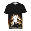 Angry Edward With Glowing Glove T-Shirt - Full Metal Alchemist 3D Printed T-Shirt