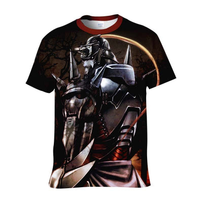 Alphonse Elric In Dark Night T-Shirt - Full Metal Alchemist 3D Printed T-Shirt