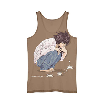 L Sitting Tank Top - 3D Printed Death Note Tank Top