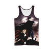 Edward & Roy Mustang Tank Top - 3D Printed Full Metal Alchemist Tank Top