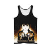 Angry Edward with Glowing Glove Tank Top - 3D Printed Full Metal Alchemist Tank Top