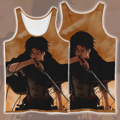 Levi In Tattered Up Scout - 3D Printed Attack On Titan Tank Top