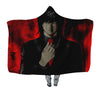 Teru Mikami Red Hooded Blanket - Death 3D Printed Hooded Blanket