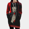Teru Mikami Red Hooded Dress - Death Note 3D Printed Hoodie Dress