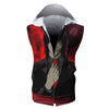 Teru Mikami Red Hooded Tank - Death Note 3D Printed Sleeveless Hoodie