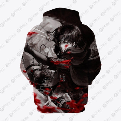 Titan Attack On Titan Blood Hoodie- Attack On Titan 3D Hoodie