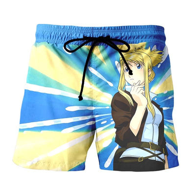 Winry Rockbell Thinking Shorts - Full Metal Alchemist 3D Printed Shorts