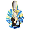 Winry Rockbell Thinking Zip Up Hoodie - Full Metal Alchemist Zip Up Hoodie