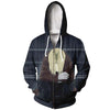 Sad Edward Zip Up Hoodie - Full Metal Alchemist Zip Up Hoodie