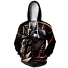 Alphonse Elric In Dark Night Zip Up Hoodie - Full Metal Alchemist Zip Up Hoodie