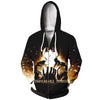 Angry Edward With Glowing Glove Zip Up Hoodie - Full Metal Alchemist Zip Up Hoodie