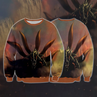Naruto Sweatshirt - Nine Tails Cloak Transformation 3D Printed Sweatshirt