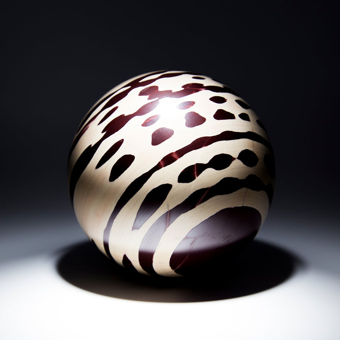 Zebra Rock Sphere - 3