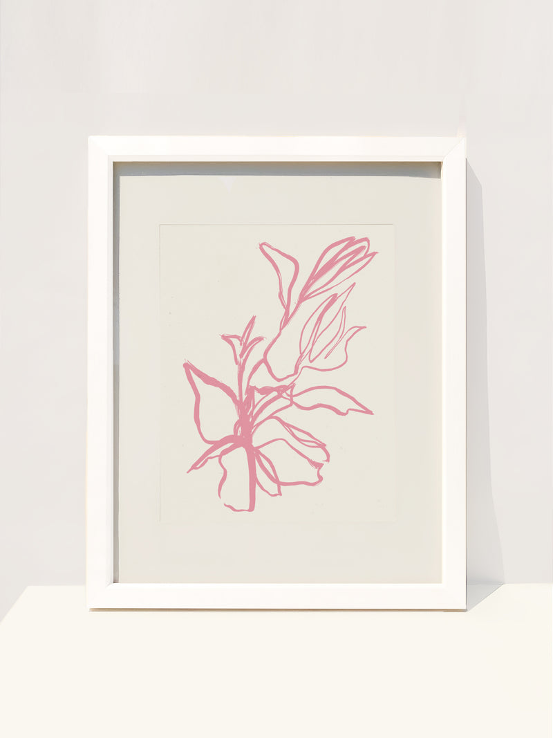 Flora Art Print in Orchid