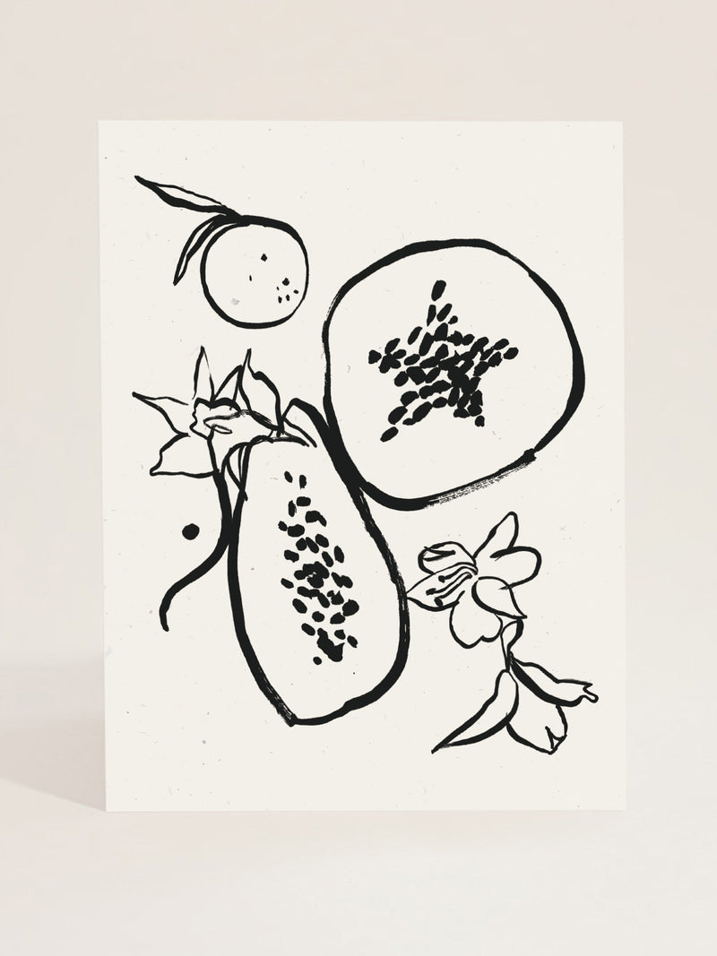 Les Fruits Art Print in Noir