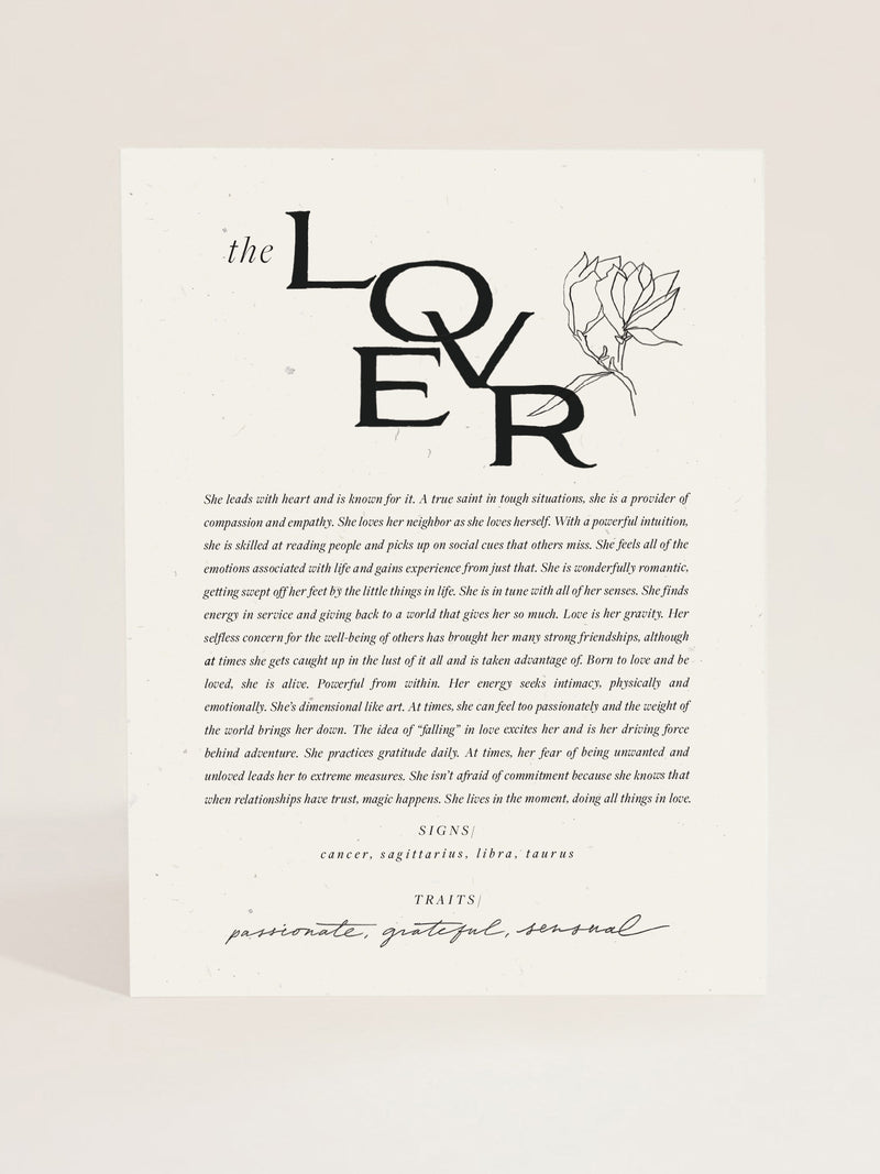 The Lover Art Print