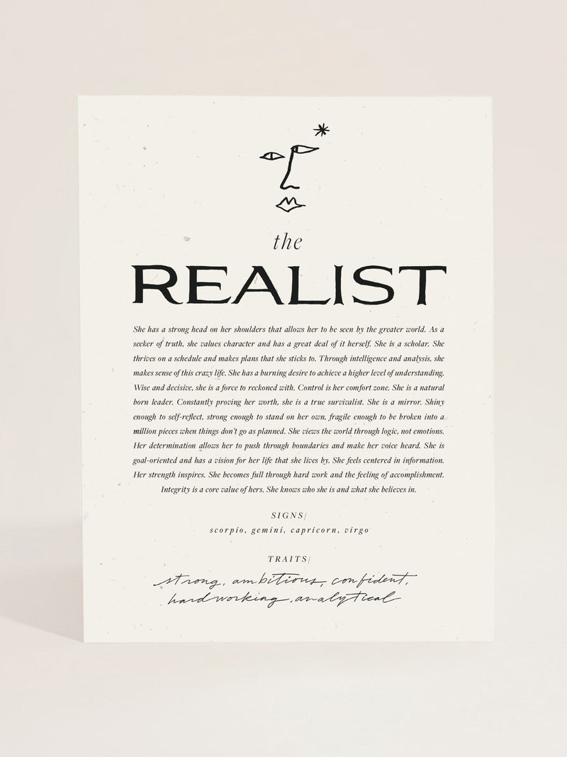 The Realist Art Print