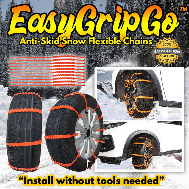 EasyGripGo™ Anti-Skid Snow Flexible Chains (10/Pcs)