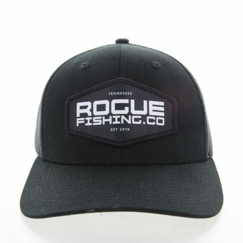 NEW for 2021 - Black/Black Patch Trucker Hat