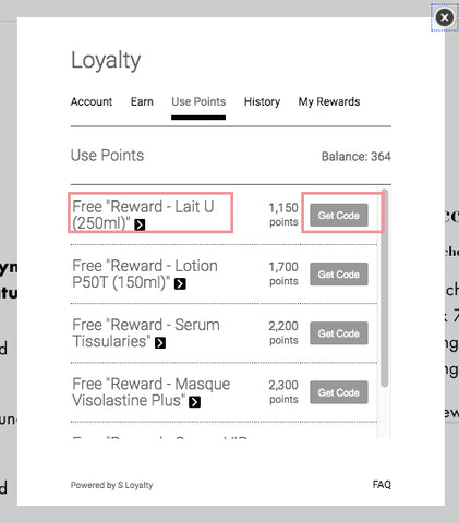 Loyalty point Redemption