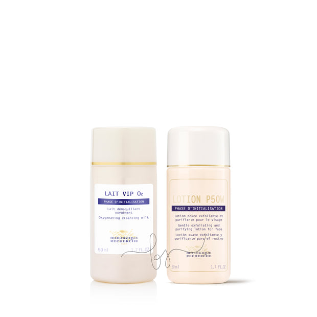 Biologique Recherche Lait VIP02 Cleanser and Lotion P50W Travel Size - BareSkin Elements