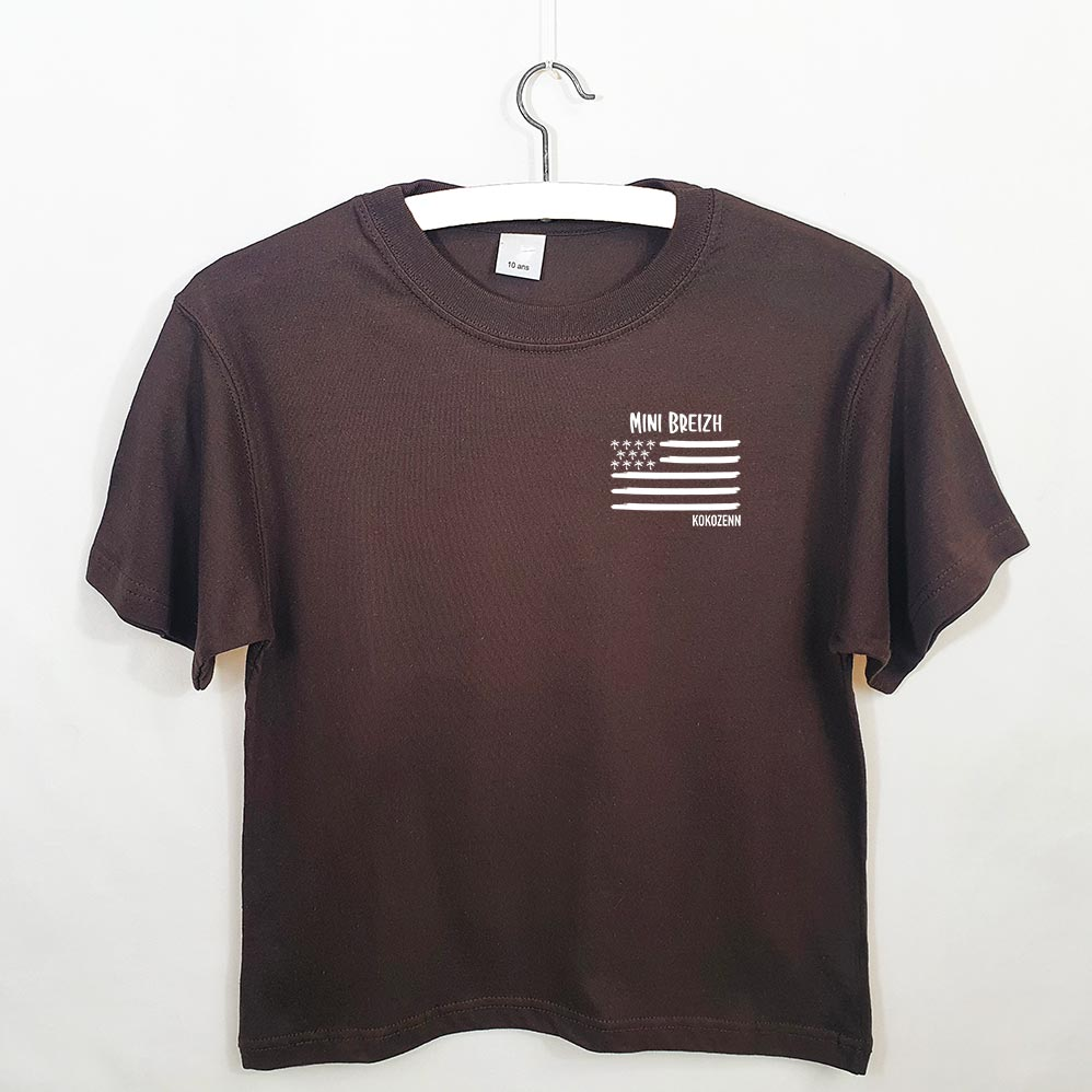 T-shirt enfant marron (R)