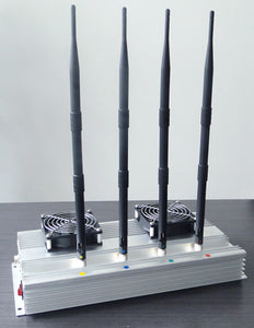 4 Antennas High Power indoor Mobile phone Jammer